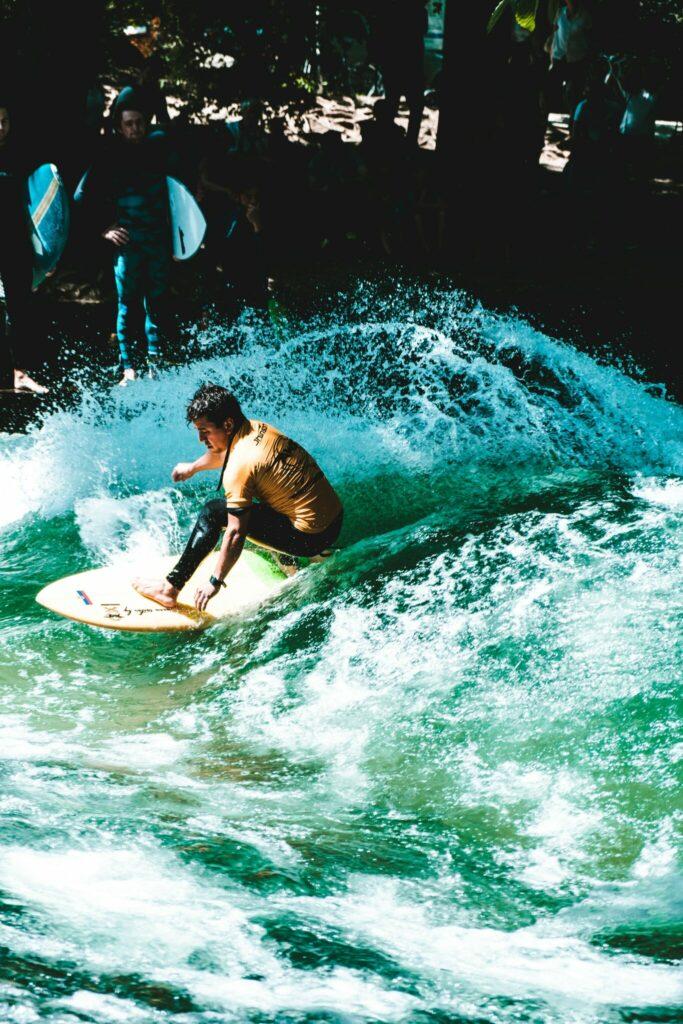 man-surfing